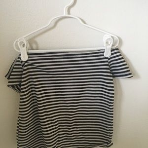 Pacsun off the shoulder striped top